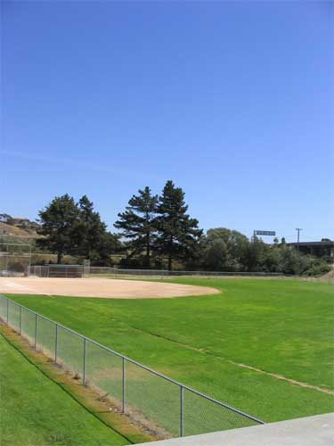 Baseball diamond at the Pismo Beach Sports Complex