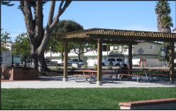 Picnic area in IRA Lease Park